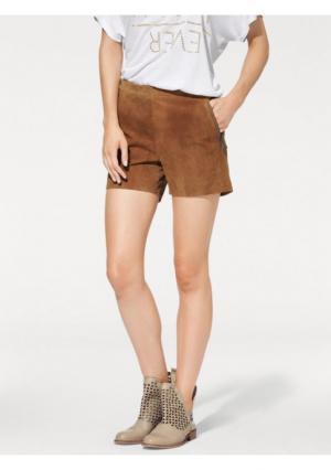Кожаные шорты B.C. BEST CONNECTIONS. Цвет: серо-коричневый