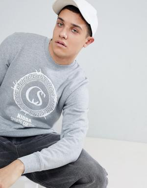 Christopher Shannon Серый свитшот с логотипом Kidda By. Цвет: серый