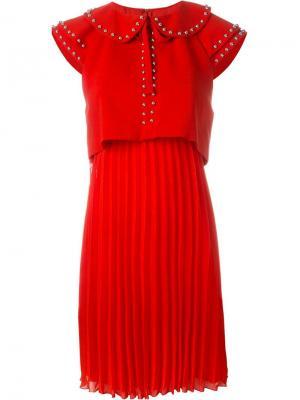 Расклешенное платье Giamba. Цвет: красный