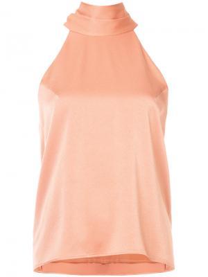Блузка с вырезом-петлей халтер Galvan. Цвет: жёлтый и оранжевый