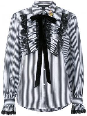 Рубашка с полоску оборками Marc Jacobs. Цвет: чёрный