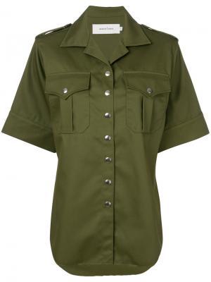 Рубашка в стиле милитари Marquesalmeida Marques'almeida. Цвет: зелёный