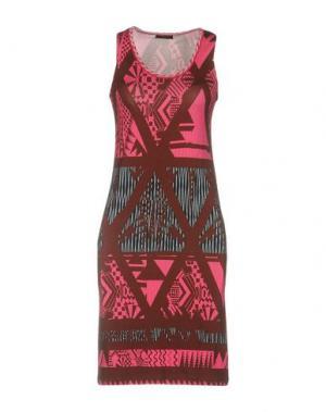 Короткое платье CUSTO BARCELONA. Цвет: какао