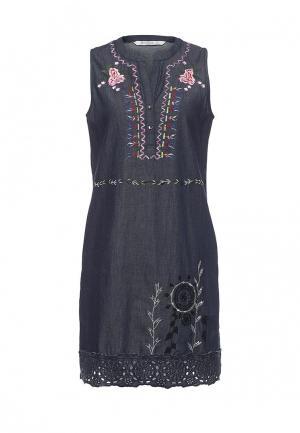 Платье джинсовое Desigual. Цвет: синий