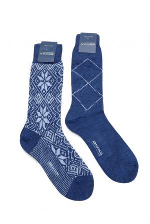 Комплект носков из шерсти 142862 Bresciani. Цвет: синий