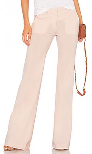 Расклешенные брюки demitria 2 Theory. Цвет: розовый