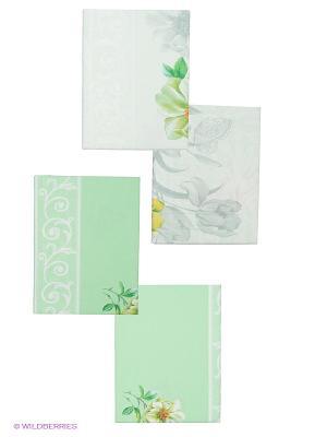 Постельное белье Арт Постель. Цвет: белый, светло-зеленый