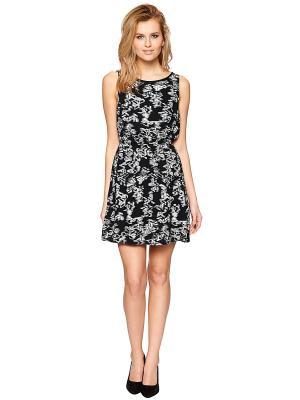 Платье TOM TAILOR. Цвет: черный, молочный