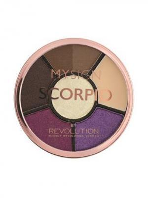 Палетка для макияжа глаз Complete Eye Base Scorpio MakeUp Revolution. Цвет: черный, коричневый, темно-фиолетовый