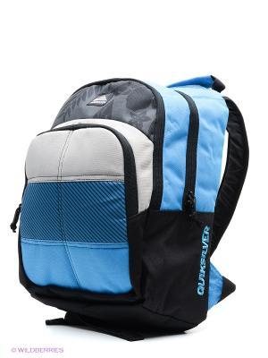 Рюкзак NEW BURST Quiksilver. Цвет: черный, голубой, светло-серый
