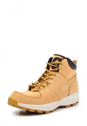 Ботинки Nike. Цвет: бежевый