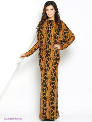 Платье МадаМ Т. Цвет: коричневый, синий
