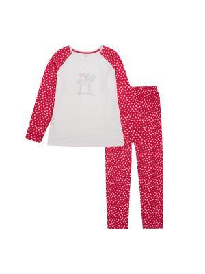 Пижама Endo. Цвет: белый
