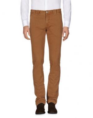 Повседневные брюки 9.2 BY CARLO CHIONNA. Цвет: верблюжий
