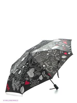 Зонт Flioraj. Цвет: темно-серый, красный, белый