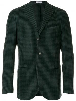 Классический пиджак Boglioli. Цвет: зелёный