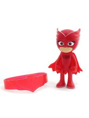 Игровой набор фигурка 8 см со светом, браслет Алетт. Герои в масках PJ Masks. Цвет: синий, красный