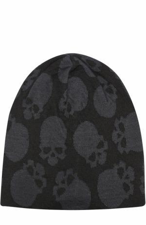 Льняная шапка с принтом в виде черепов Gemma. H. Цвет: черный