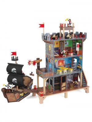 Набор Пиратский форт KidKraft. Цвет: серый, коричневый