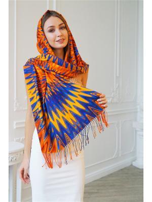 Палантины LIGVIANNI. Цвет: синий, золотистый, оранжевый