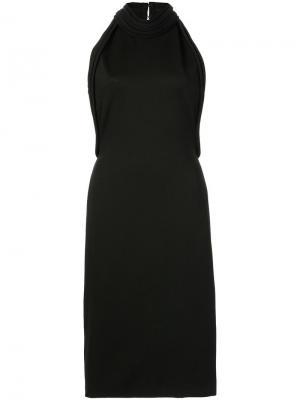 Платье с открытой спиной Brandon Maxwell. Цвет: чёрный