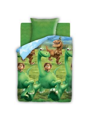 Постельное белье Disney. Цвет: зеленый