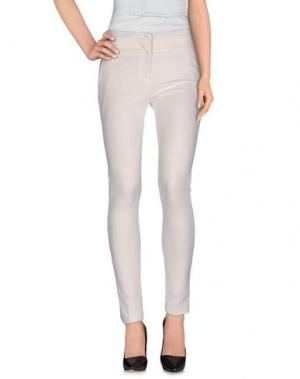Повседневные брюки POIS. Цвет: слоновая кость