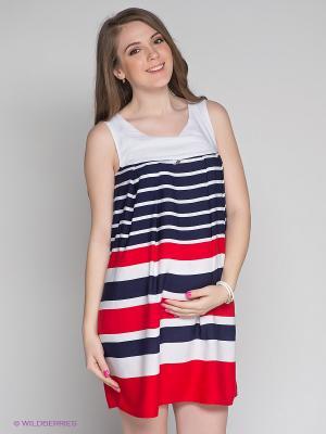Платье Русмар. Цвет: синий, красный, белый