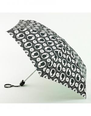Зонт механический Портрет  by Fulton Lulu Guinness. Цвет: черный
