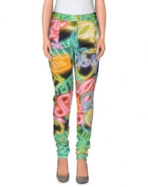 Повседневные брюки MARCO BOLOGNA. Цвет: кислотно-зеленый