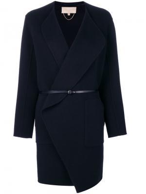 Приталенное пальто Vanessa Bruno. Цвет: синий