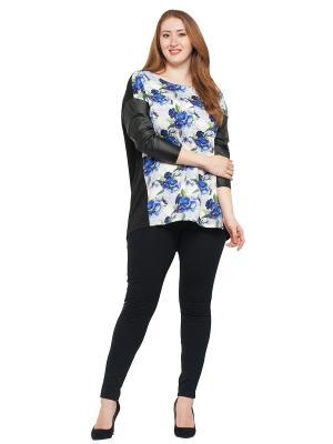 Блузка Lady Di. Цвет: черный, синий, сиреневый