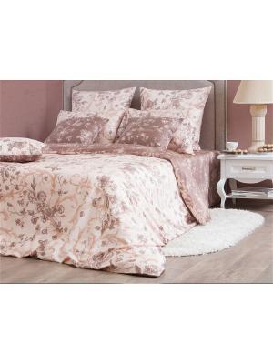 Двуспальное постельное белье Хлопковый Край. Цвет: бежевый, коричневый