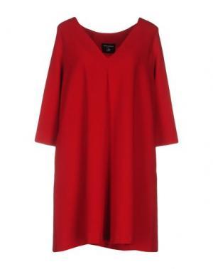 Короткое платье SIMONA MARTINI. Цвет: красный