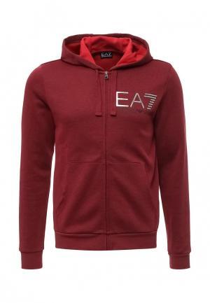 Толстовка EA7. Цвет: бордовый