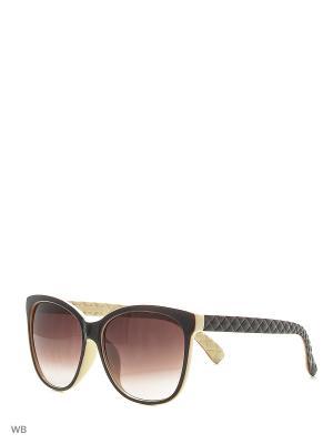 Очки солнцезащитные Vittorio Richi. Цвет: коричневый, молочный