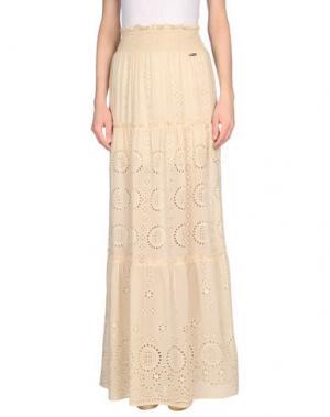 Длинная юбка CRISTINAEFFE. Цвет: бежевый