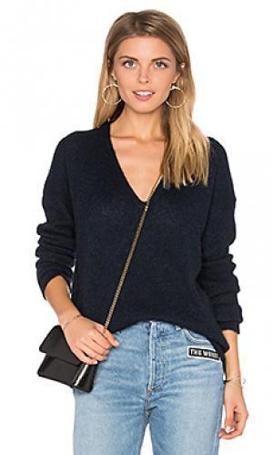 Свитер с v-образной горловиной ira 360 Sweater. Цвет: синий
