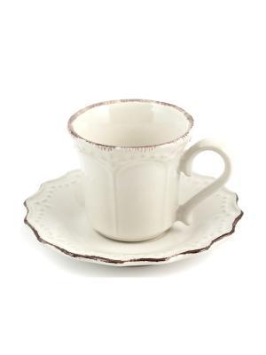 Набор кофейных пар CROWNE H&H. Цвет: белый