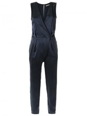 V-neck jumpsuit Giuliana Romanno. Цвет: синий