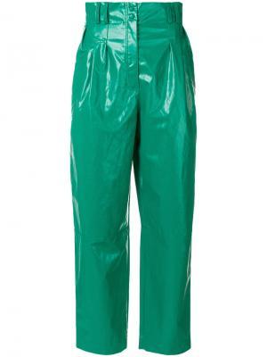 Широкие брюки  с завышенной талией Philosophy Di Lorenzo Serafini. Цвет: зелёный