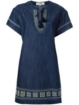 Джинсовое платье шифт Vanessa Bruno Athé. Цвет: синий