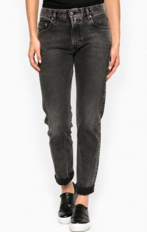 Серые зауженные джинсы со стандартной посадкой Diesel. Цвет: серый