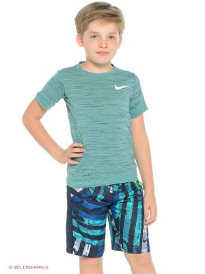 Футболка NIKE DF COOL SS TOP YTH. Цвет: зеленый