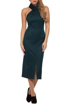 Платье Gloss. Цвет: темно-зеленый