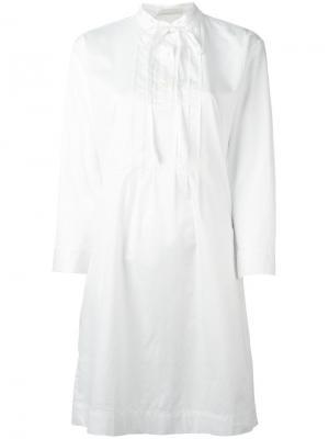 Платье-рубашка с завязками Peter Jensen. Цвет: белый