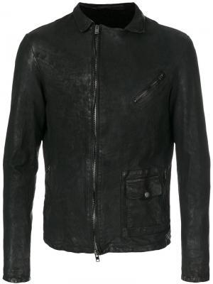Куртка со смещенной застежкой Salvatore Santoro. Цвет: чёрный