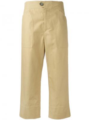 Укороченные прямые брюки Isabel Marant. Цвет: коричневый
