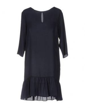 Короткое платье HOPE COLLECTION. Цвет: темно-синий