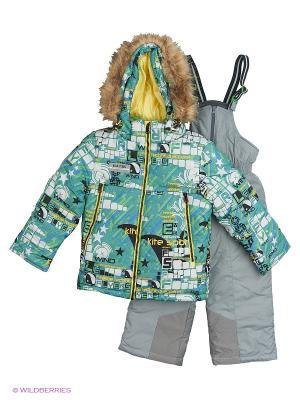 Комплект batik. Цвет: зеленый, серый